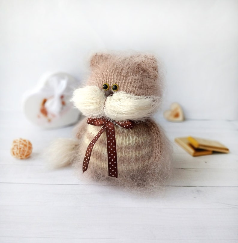 Amazon.com: 12 inches Teddy Kitty Handmade Amigurumi Stuffed Cat ... | 811x794