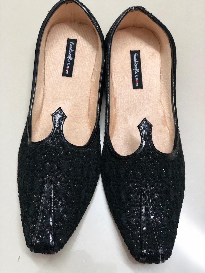 cb3da5b09 Black Mens Shoes  Black Party Shoes  Mens Khussa Flats Mens