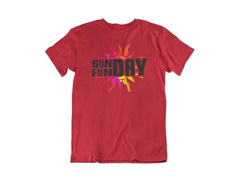 Funny Humor Novelty Sunday Fun Day Summer Outdoors Unisex T-Shirt