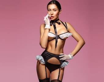 b32f6b89fc6 Sexy french maid lingerie costume