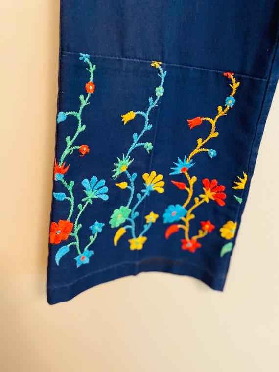 Vintage 1970's Girls Embroidered Bell Bottoms - image 4