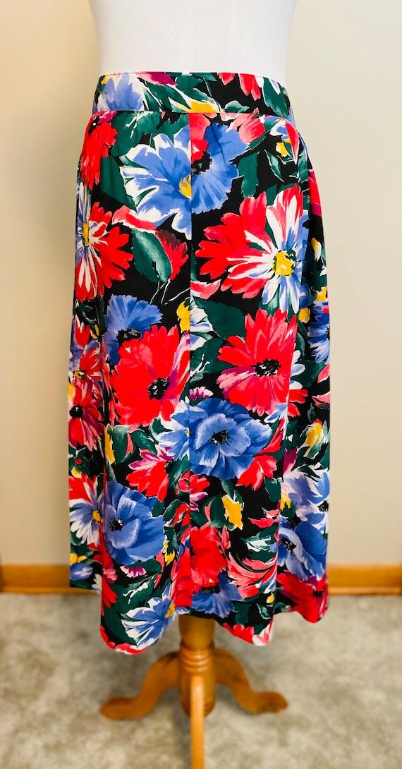 Vintage Daisy Skirt,  1970's, A-Line