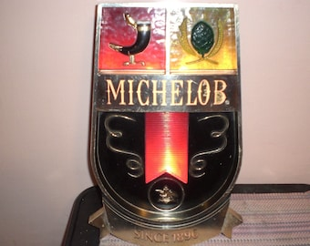 Beautiful Michelob Dry Beer Lighted Clock Breweriana, Beer Collectibles