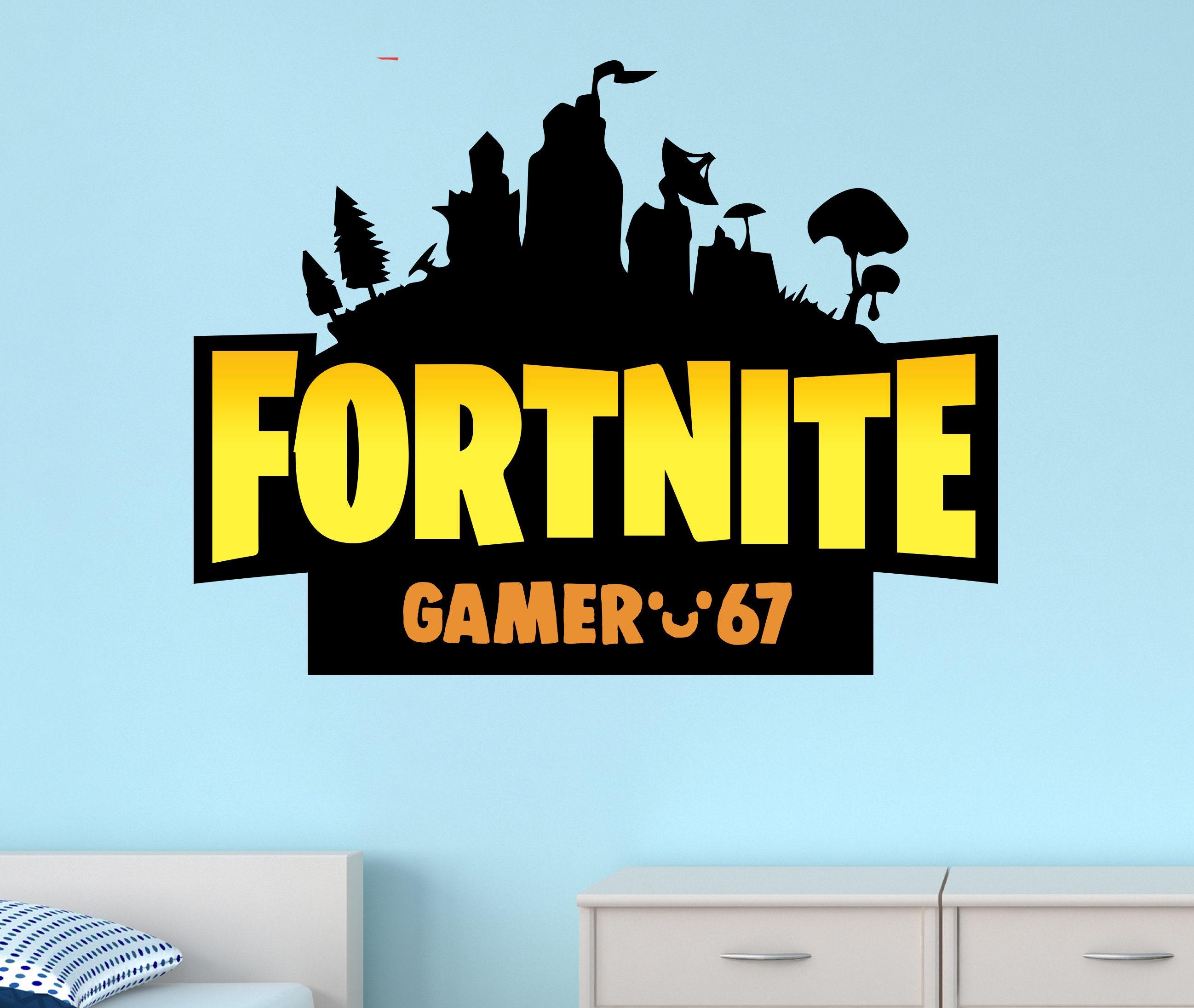 Fortnite Sticker Fortnite Kids Custom Name Gamertag Wall | Etsy