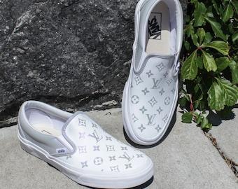 New Vans Womens Metallic Classic Louis Vuitton LV Slip On