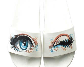 d3f97678d55 New Asos Womens Custom Hand Painted Sandals Size 6