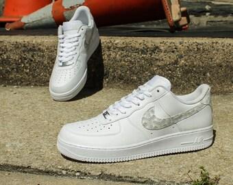 buy popular 7bc49 b74e8 ... NEW Men s Nike Air Force 1 Goyard Canvas Sneakers ...