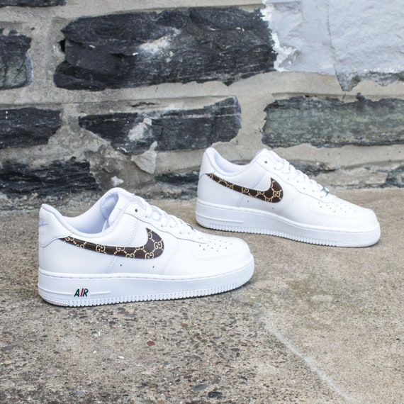sale retailer 372fa 92d45 ... New Nike Air Force 1 Gucci GG Sneakers Etsy ...
