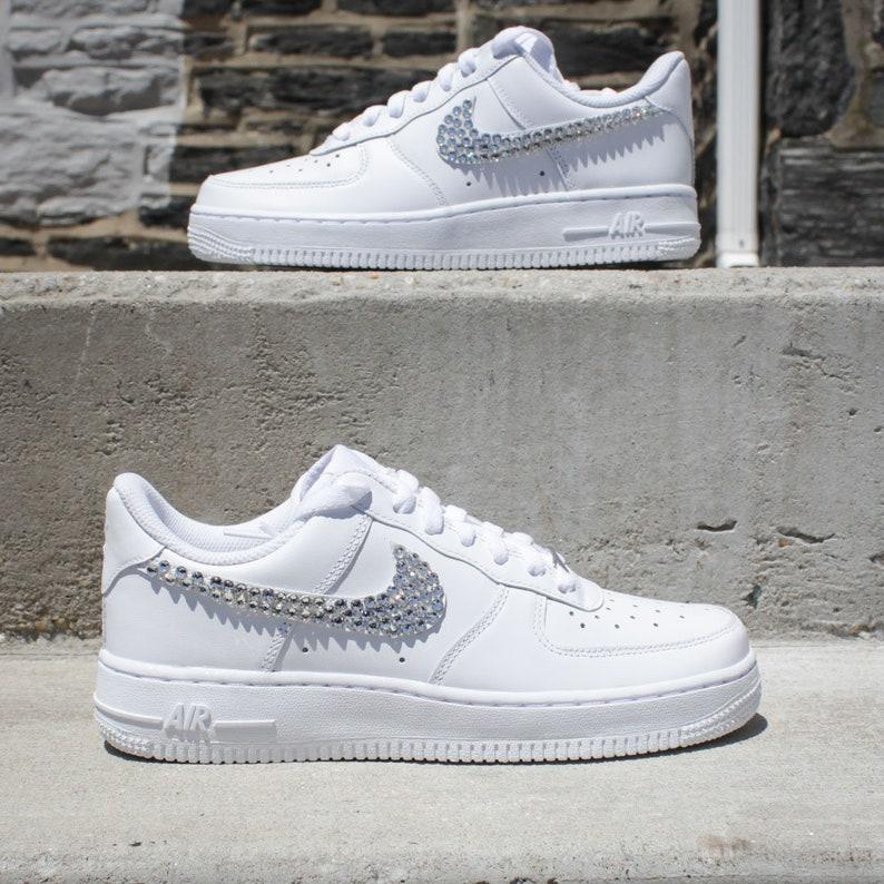 buy popular 4c00f 0da7d NEW Women's Nike Air Force 1 Swarovski Crystal Sneakers, Size 7
