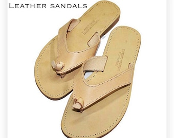 e56665a7e0710 Natural Leather Thong Sandals