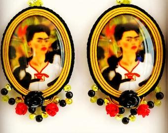 Frida Yellow Handmade Earrings