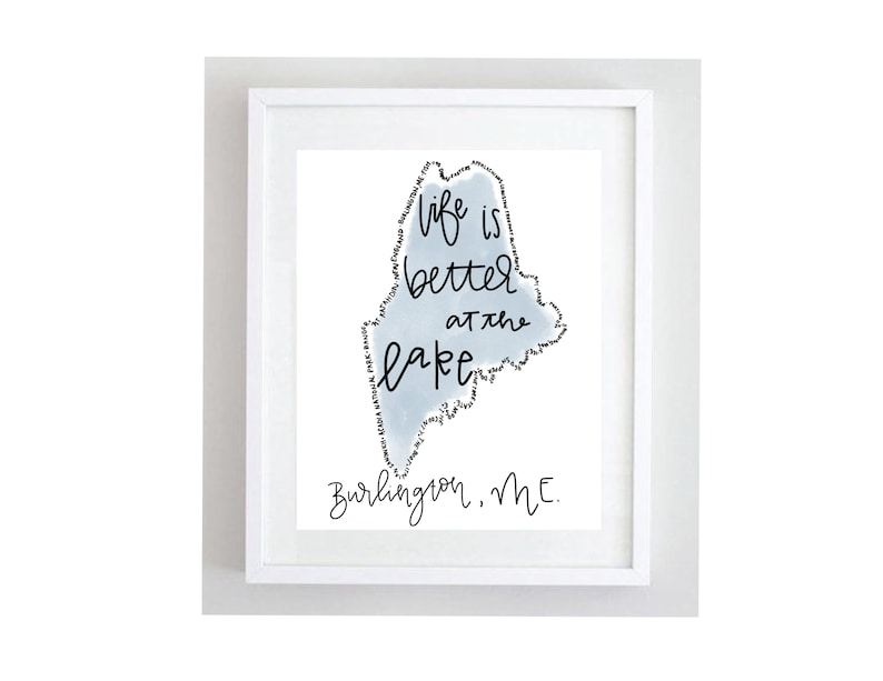 Personalized State OutlineTravel DecorState ArtGifts for HerTravel ArtTravel Wall HangingChic DecorLake house DecorUp North