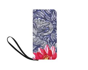 Clutch Purse Wristlet India Elephant Floral
