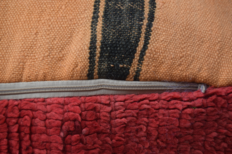 Vintage square multicolors poufs Moroccan Azilal pouf ottoman