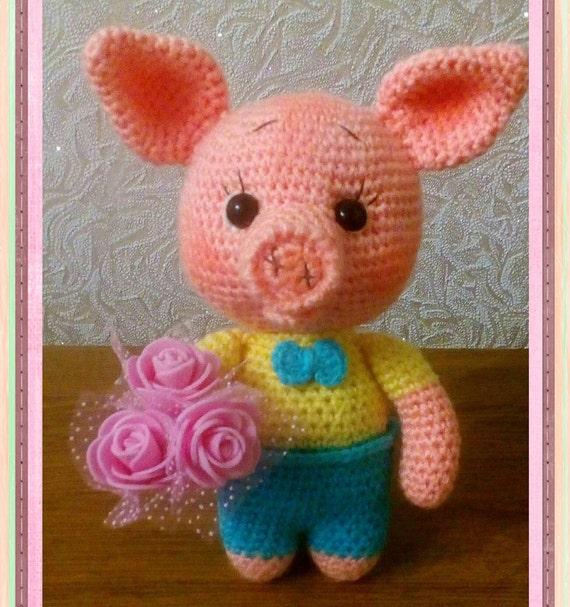 Ravelry: Peppa Pig Amigurumi pattern by Sabrina Boscolo | 607x570