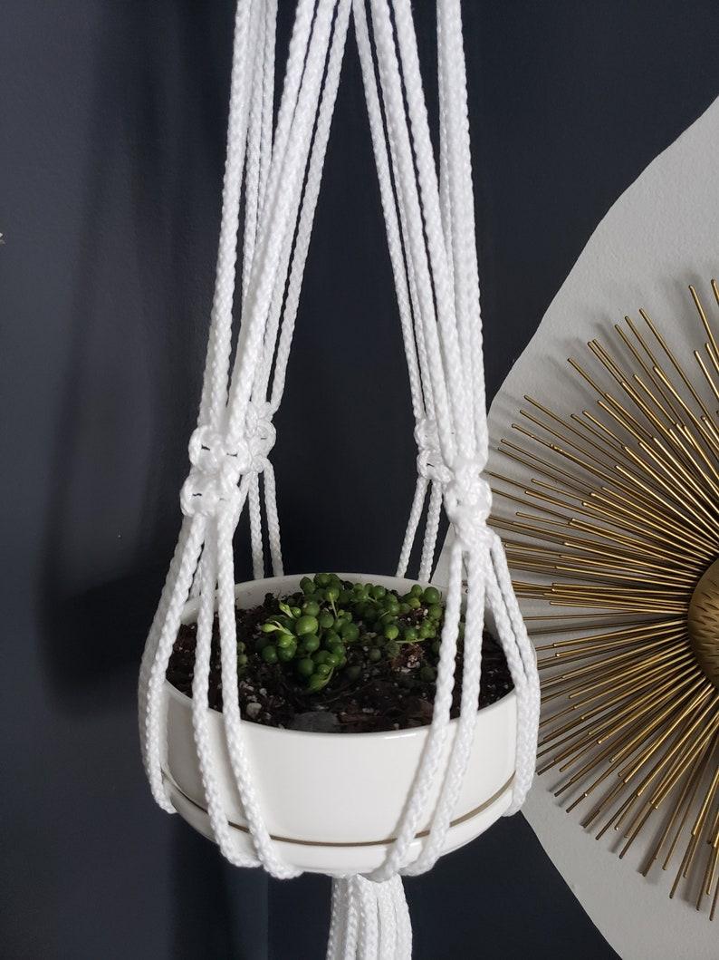 Handmade Macrame Plant Hanger White