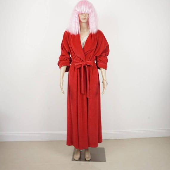 Vintage Red Robe|70s 80s Retro Robe