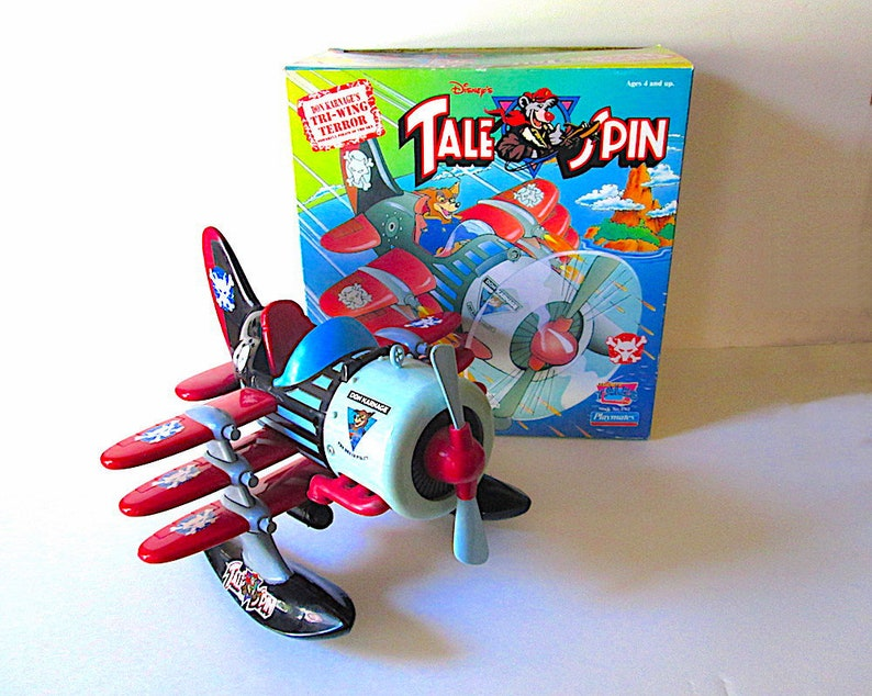 Disneys Tale Spin Don Karnages Tri Wing Terror Plane Etsy