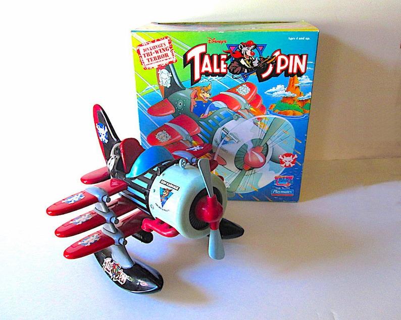 Disneys Tale Spin Don Karnages Tri Wing Terror Plane Etsy