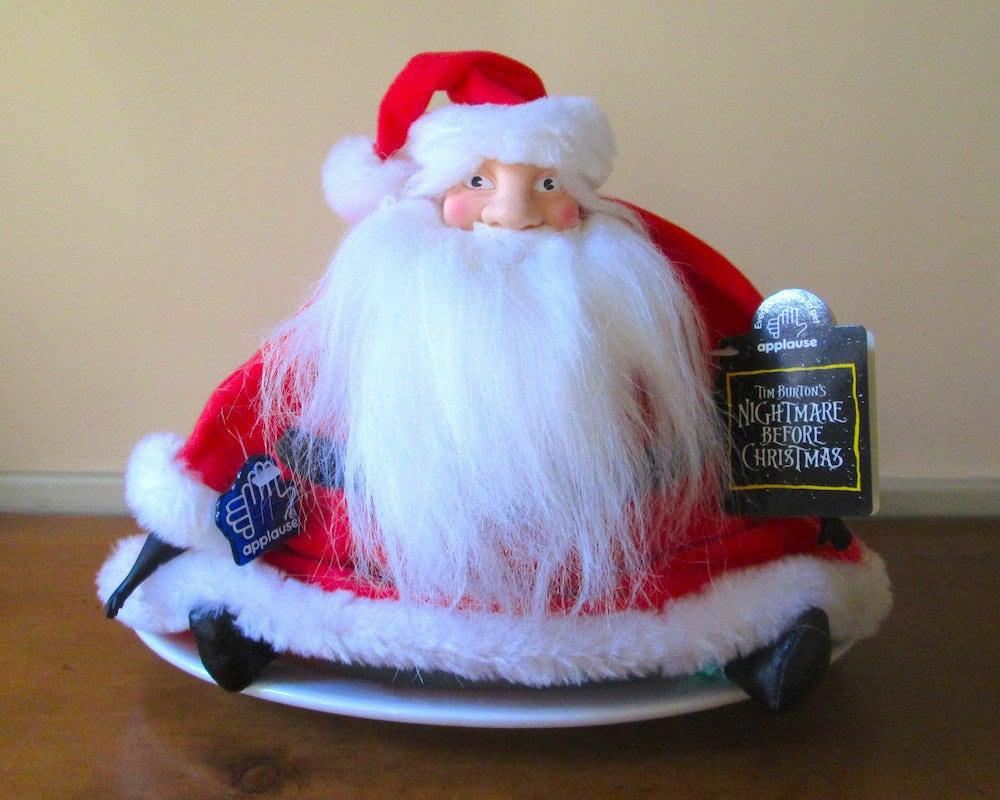 Tim Burton\'s Nightmare Before Christmas Santa Claus Plush | Etsy