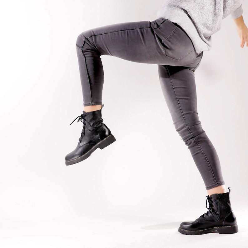 Combat boots women comfortable boots
