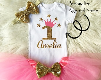 c08f20ef3 One year old girl birthday outfit
