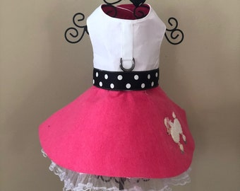 Dog Harness Dress Poodle Skirt