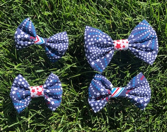 Bowtie - Hairbow - Dog Bow - Cat Bow - Pet Accesories - Fourth of July