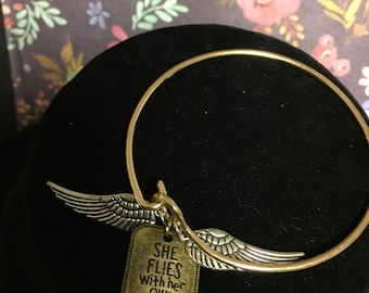She Flies With Her Own Wings Bangle