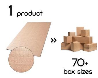 e780488c51 10 X JustFoldMe Scatole personalizzate - fogli di cartone per fai da te  (diy) scatole multidimensionali per spedizione imballaggio 80x40 cm