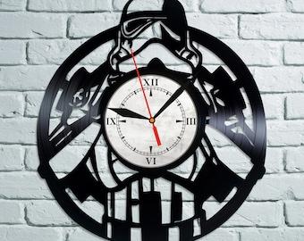 Star Wars Vinyl Wall Clock, Wall Clock Vintage, Han Solo Gift For Boy, Birthday Gift, Darth Vader Vinyl Record Wall Clock, Wall Clock Modern