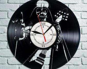 Star Wars Vinyl Wall Clock, Wall Clock Vintage, Han Solo Gift For Boy, Birthday Gift, Darth Vader Vinyl Record Wall Clock,Clock Poster