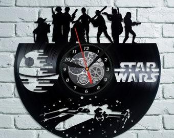 STAR WARS Vinyl Wall Clock Record Wall Clock Star War Wall Decor Star Wars Vinyl Art Home Decor for Living Room Wall Clock Birthday Gift