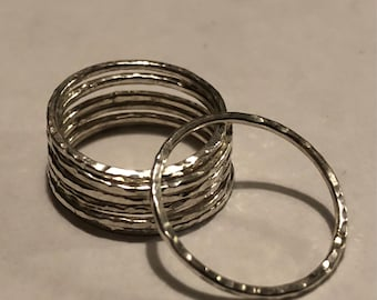 Thin Sterling Silver Stacking Rings