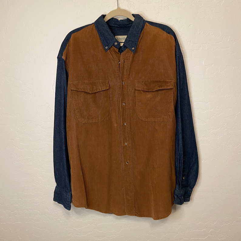 90s Vintage Corduroy Denim Shirt