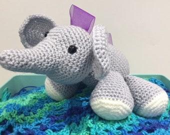 Crochet Elephant Stuffed Animal
