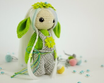 Little Elf. Amigurumi crochet doll. Doll with clothes. Soft doll. Textile doll. Collectable doll