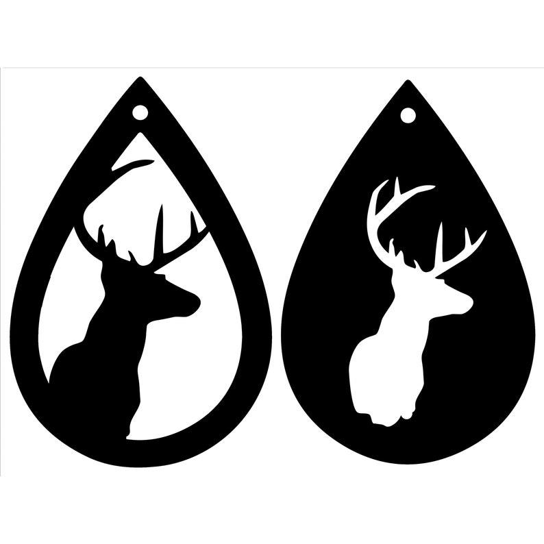 7274f79aa Deer Tear Drop Earrings Teardrop earrings svg Deer Earrings | Etsy