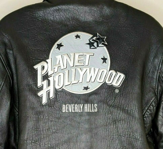 Planet Hollywood Beverly Hills Vintage Leather Jac