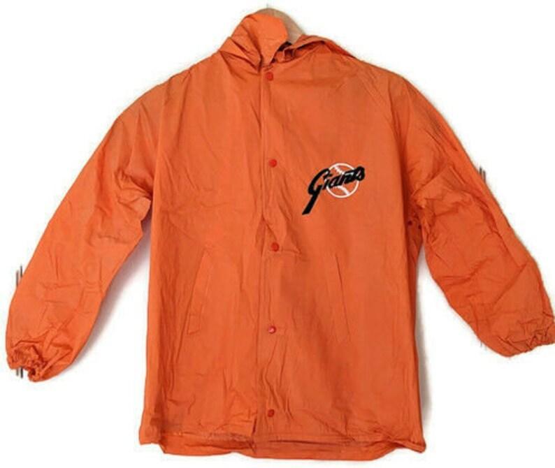 San Francisco Giants Vintage Mens Small Rain Coat Jacket Poncho Orange