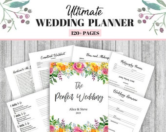 wedding planner printable etsy
