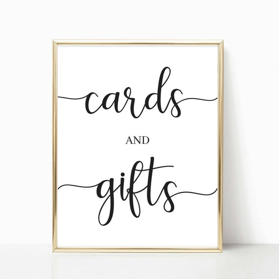 Editable 8x10 Cards /& Gifts Sign Printable Wedding Sign PLP/_0013 Cards and Gifts 8x10 Cards and Gifts Printable Template