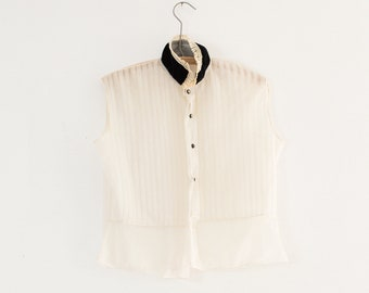 1930s sheer blouse | small/medium