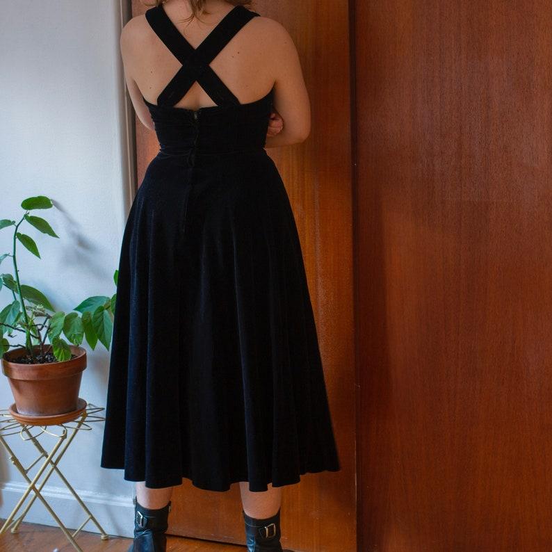 small vintage 1950s Carolyn Schnurer velvet dress