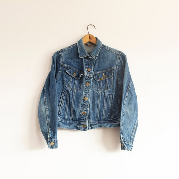 vintage 1970s Lee Riders cropped jean jacket | den