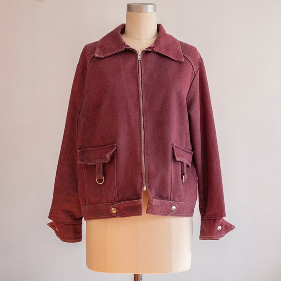 vintage 1970s purple denim jacket | small, medium,