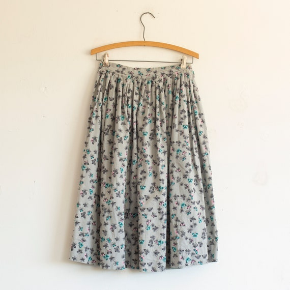 vintage 1950s cotton butterfly dress | 26 waist