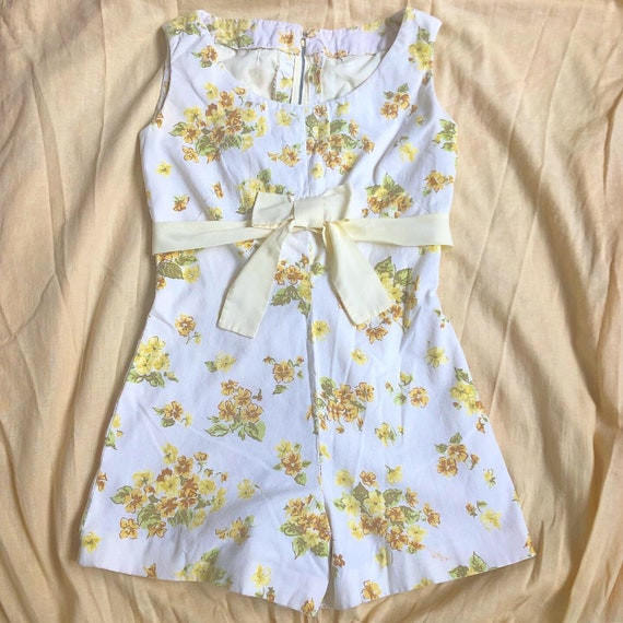 vintage 1960s floral cotton romper   playsuit   ha
