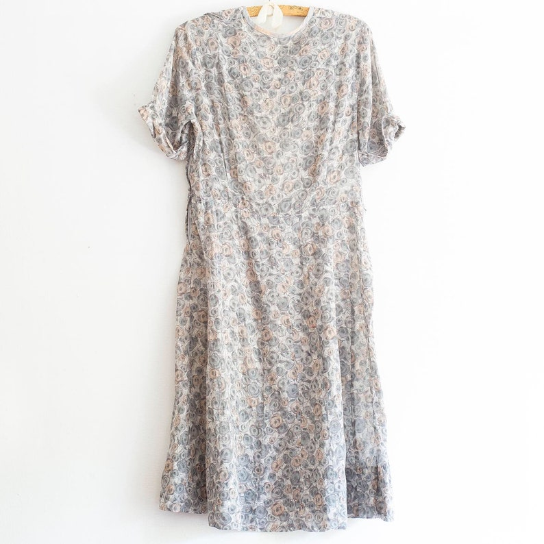 vintage 1930s sheer dress abstract print dress large lg extra large XL 34 waist