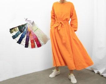 86a08fb651f 70 colors Hand Dyed Linen Stonewash Linen dress VARVARA Linen clothing Maxi  dress Organic linen
